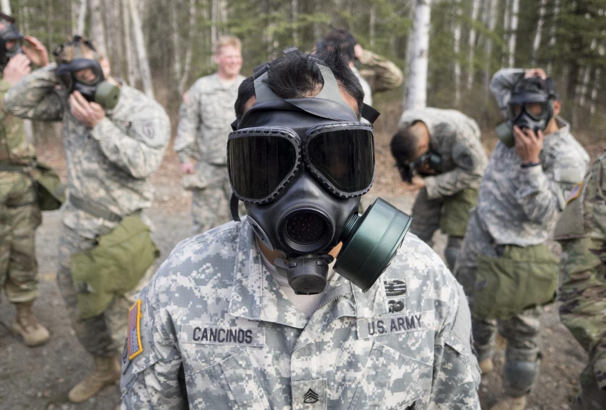 Chemical, biological, radiological and nuclear defense training on Joint Base Elmendorf-Richardson, Alaska. Flickr/Department of Defense