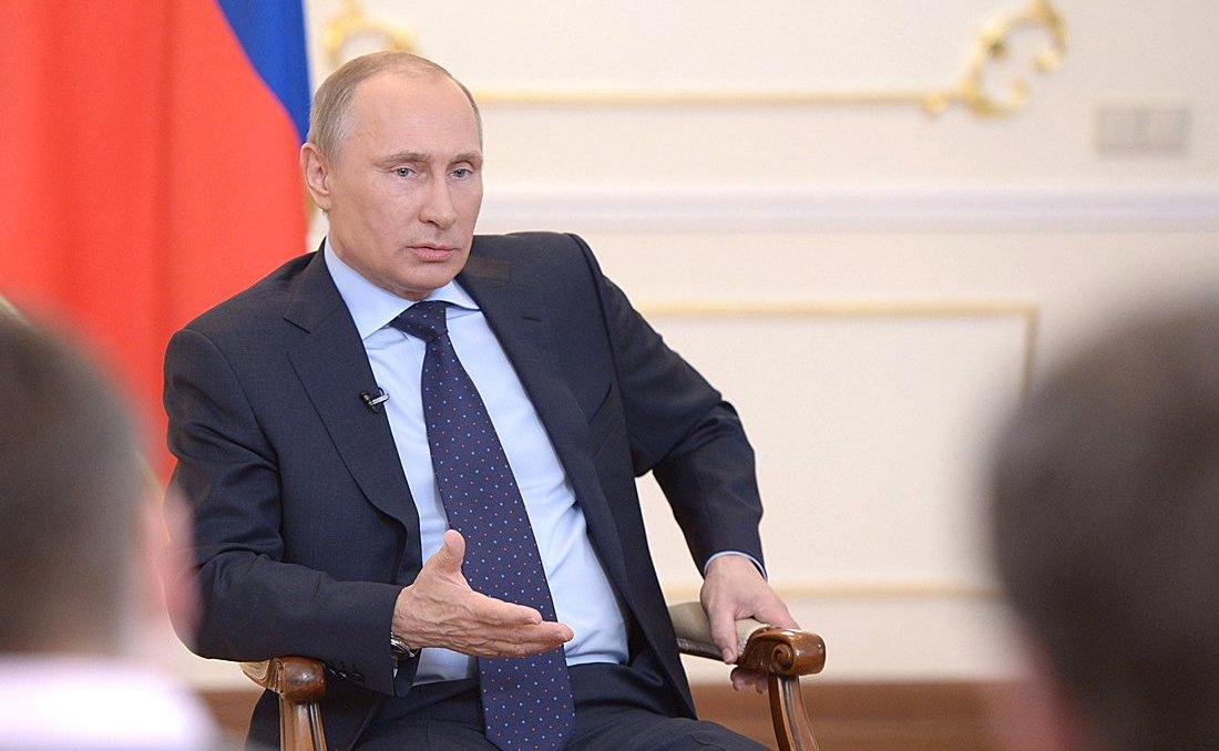 Vladimir Putin at a meeting with media representatives. Kremlin.ru