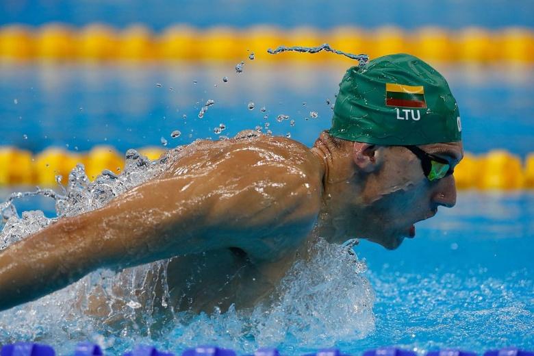Lithuanian swimmer Deividas Margevičius at the 2016 Summer Olympics. Wikimedia Commons/Agência Brasil Fotografias