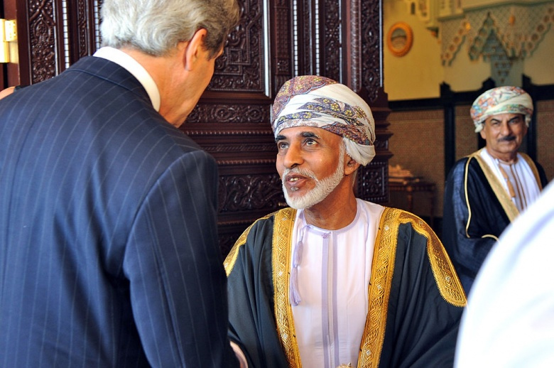 U.S. Secretary of State John Kerry meets with Sultan Qaboos of Oman. Wikimedia Commons/U.S. Department of State