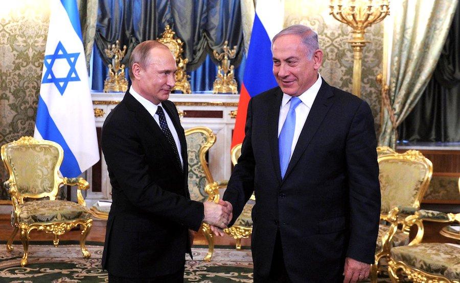 President Vladimir Putin with Prime Minister Benjamin Netanyahu. Kremlin.ru