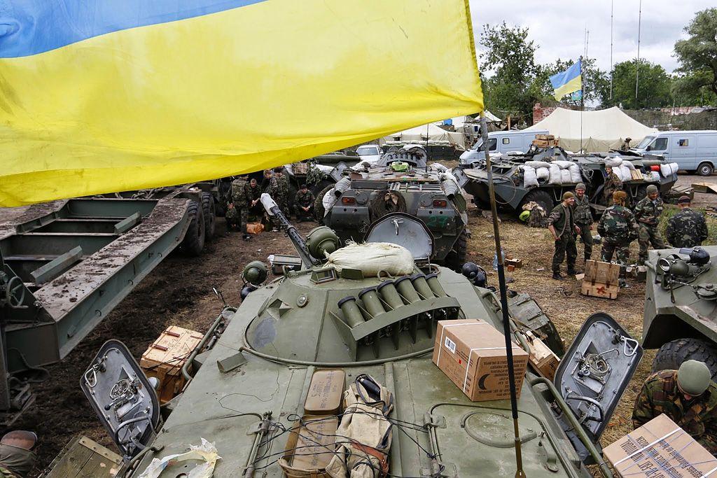 Ukrainian BTR-80 in Donbass. Wikimedia Commons/Creative Commons/Viktoria Pryshutova