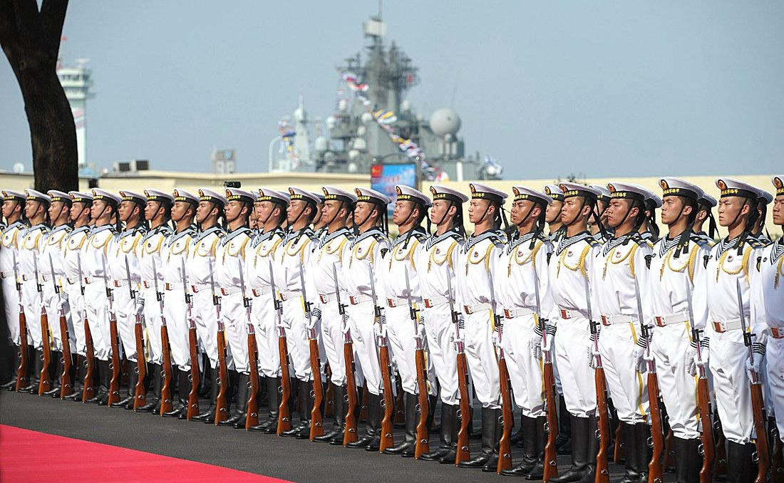 Opening ceremony of the Russia-China Naval Interaction 2014 joint exercises. Kremlin.ru