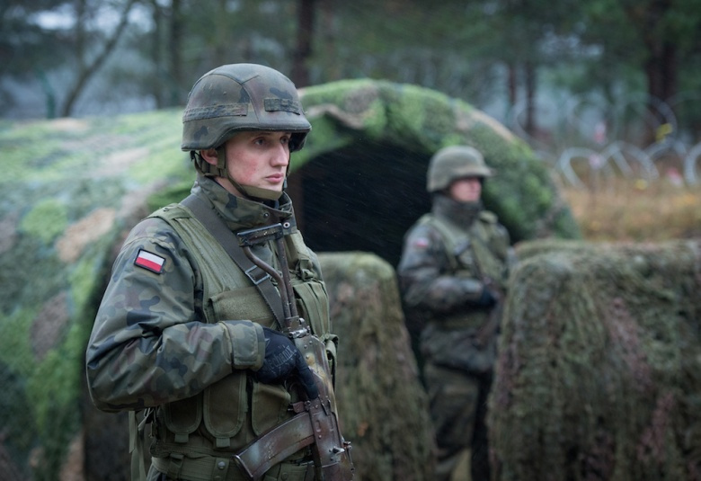 Polish soldiers stand guard during Exercise Steadfast Jazz 2013. Flickr/SFJZ13