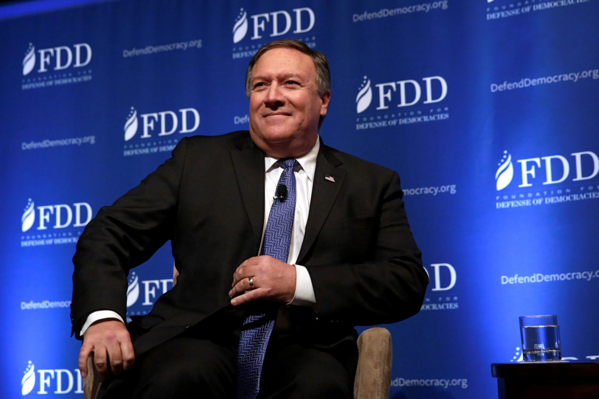 CIA Director Mike Pompeo arrives at the FDD National Security Summit in Washington