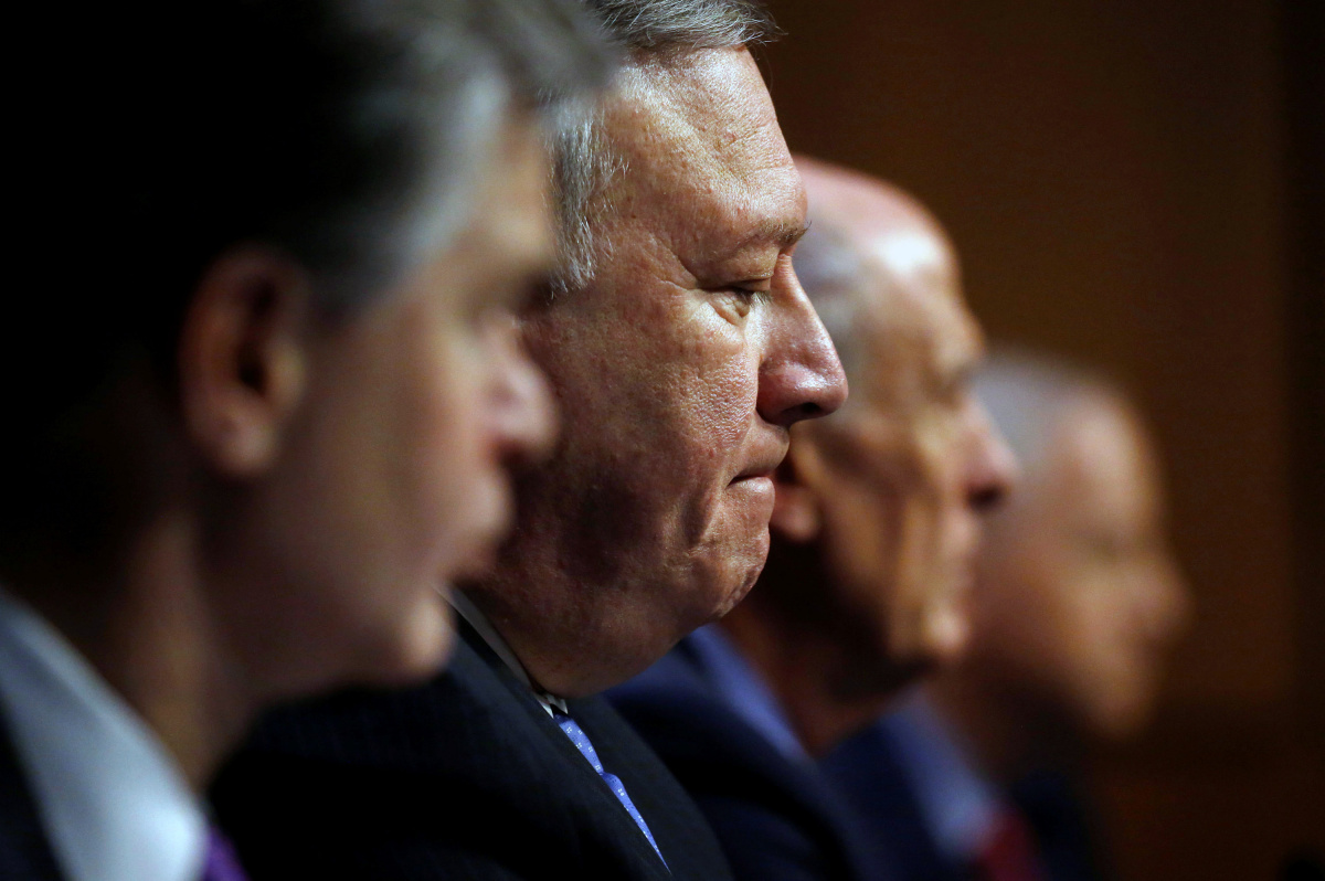 """National Security Leaders testify on """"World Wide Threats"""" on Capitol Hill during a Senate Intelligence Committee Hearing in Washington"""