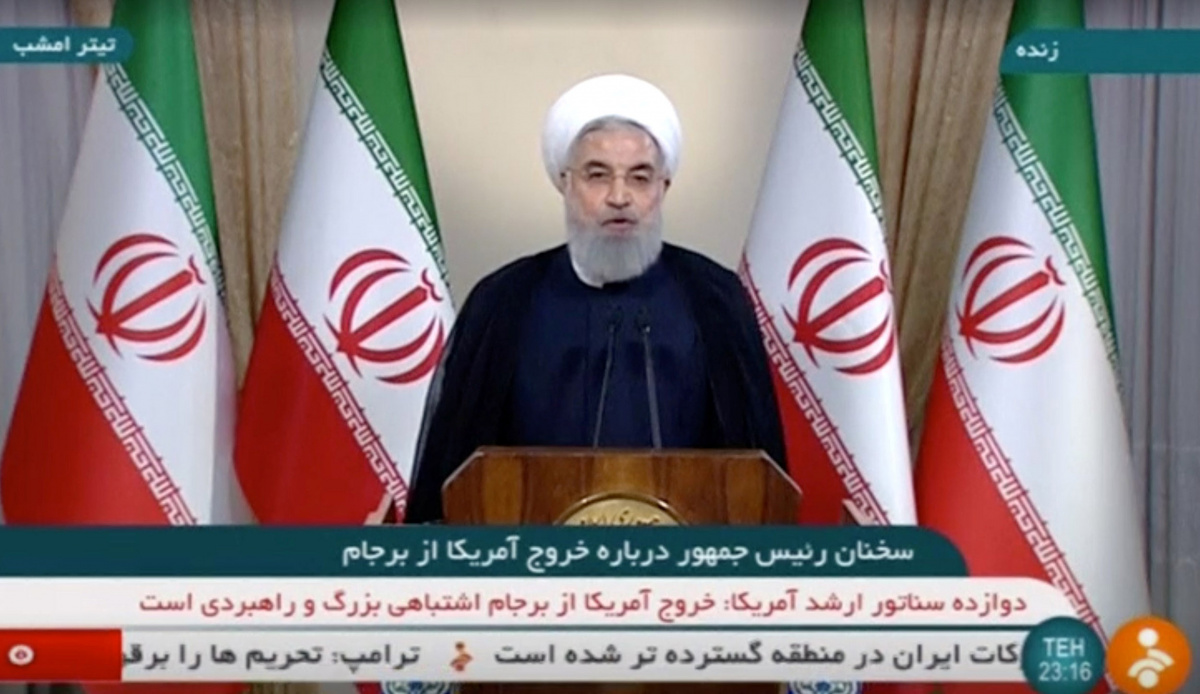 Iran's President Rouhani speaks about the nuclear deal in Tehran