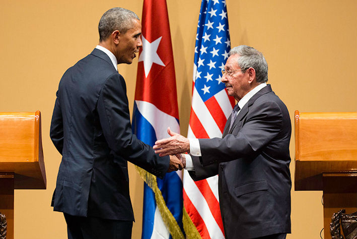 Image: President Obama and President of Cuba Raúl Castro at their joint press conference in Havana, Cuba, in March 2016.