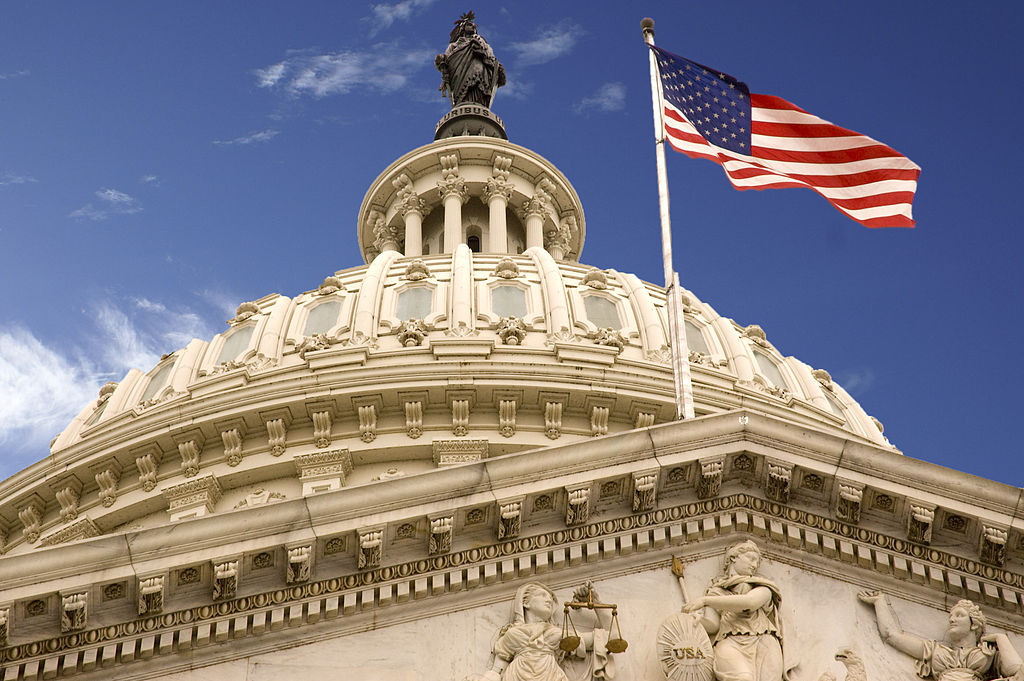 United States Capitol dome and flag. Wikimedia Commons/Creative Commons/David Maiolo