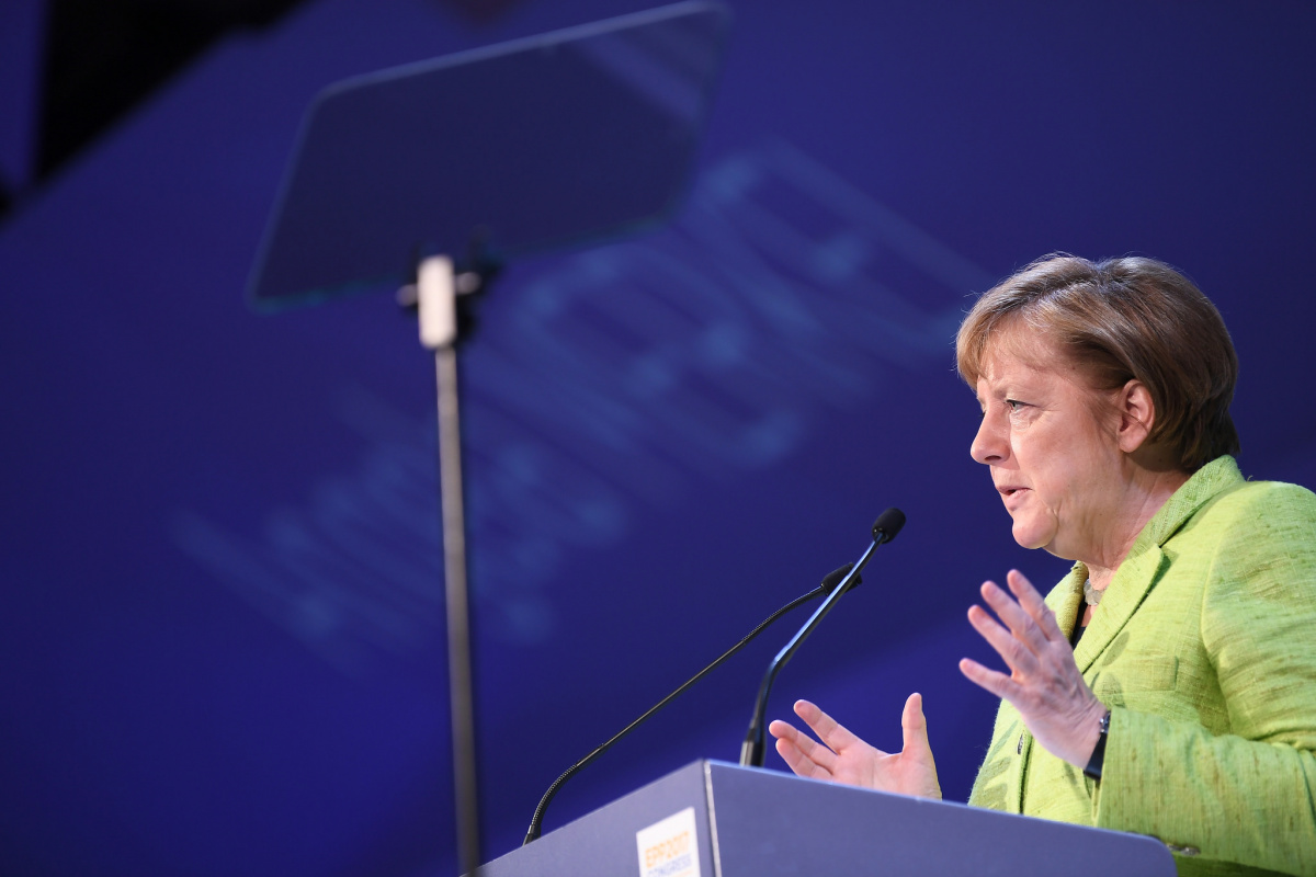Angela Merkel at the European People's Party Congress 2017. Flickr/Creative Commons/European People's Party