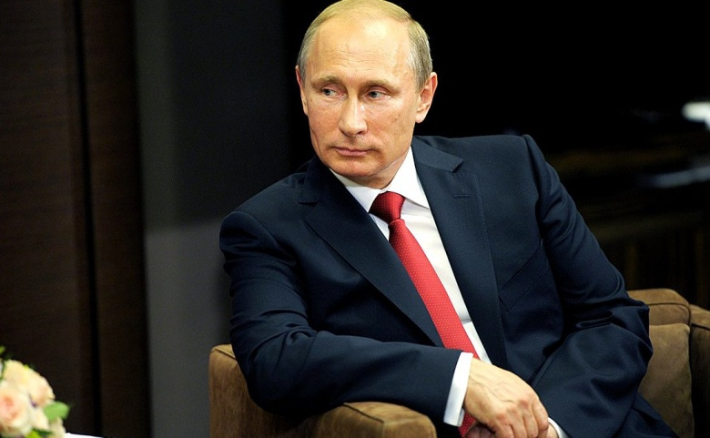 Vladimir Putin at a meeting with President of Egypt Abdel Fattah el-Sisi. Kremlin.ru