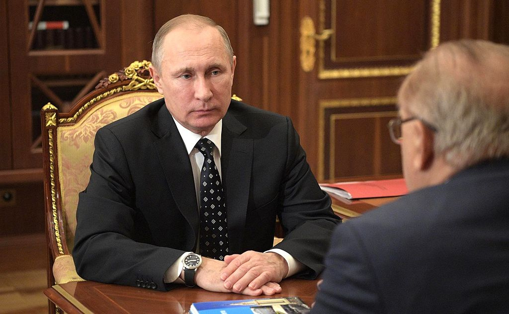 Vladimir Putin in January 2017. Wikimedia Commons/Kremlin.ru