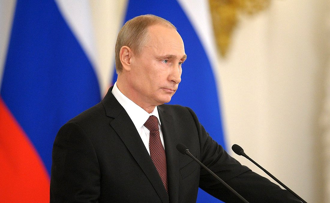 Vladimir Putin gives an address on March 18, 2014. Kremlin.ru
