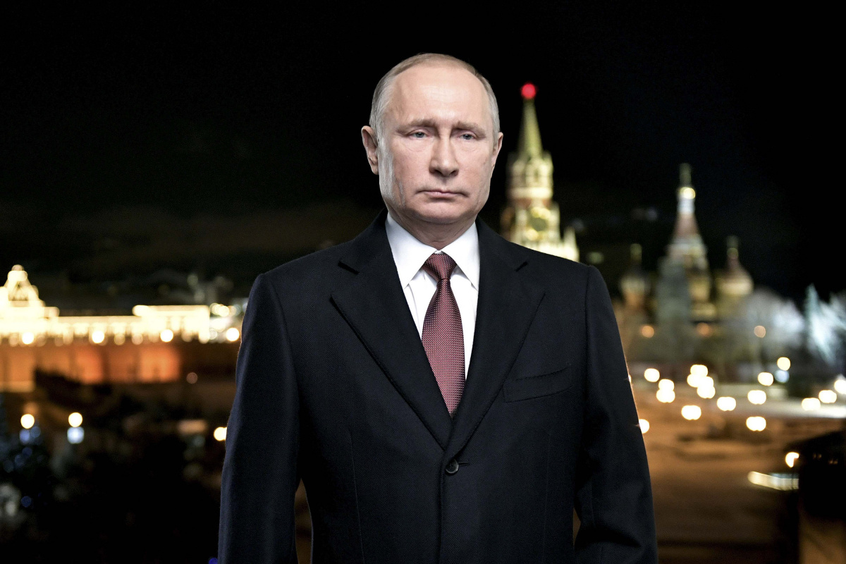 Russian President Putin makes his annual New Year address to the nation in Moscow