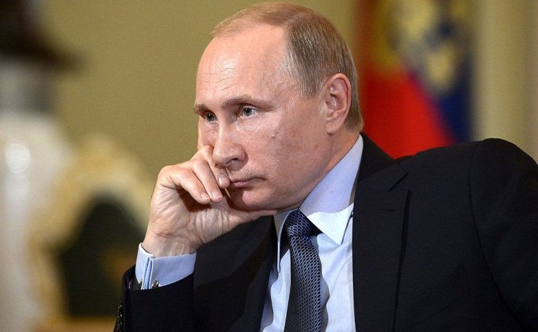 Vladimir Putin in an interview with Italy's Corriere della Sera. Wikimedia Commons/Kremlin.ru
