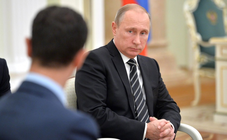 Vladimir Putin meeting with Bashar al-Assad. Kremlin.ru