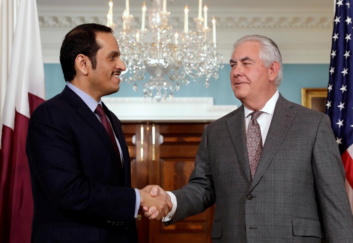 Secretary of State Rex Tillerson meets with Qatari Foreign Minister Sheikh Mohammed bin Abdulrahman Al Thani