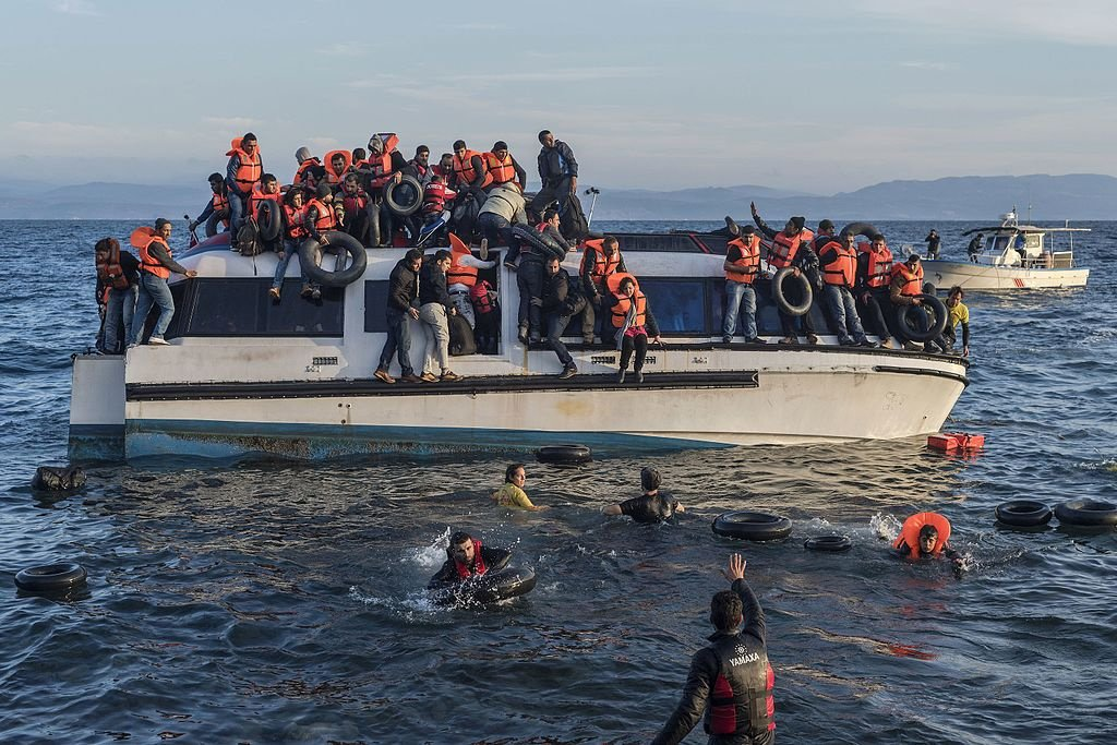 Syrian and Iraqi refugees arrive from Turkey to Lesbos island, Greece. Wikimedia Commons/Creative Commons/@Ggia