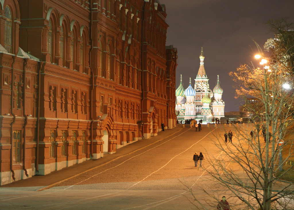 St. Basil's in Moscow from a distance. Flickr/Creative Commons/David Dennis