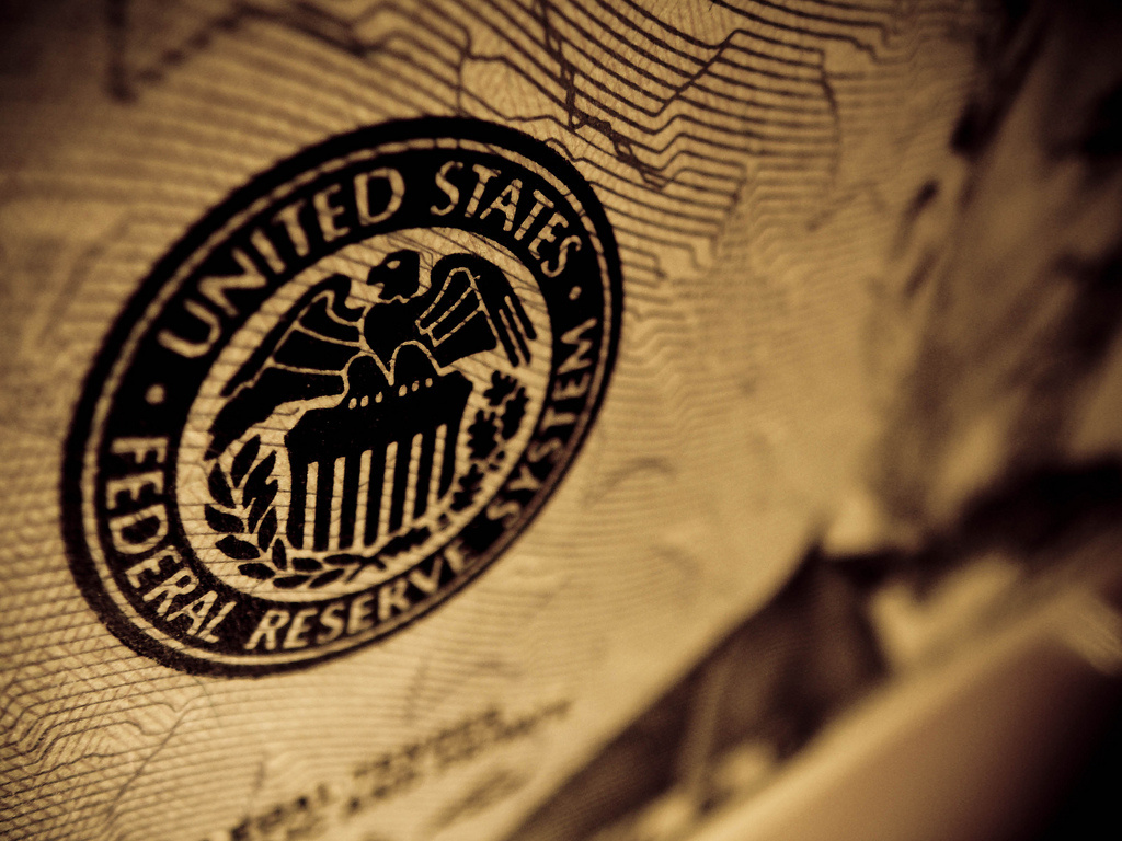 Seal of the United States Federal Reserve on a dollar bill. Flickr/Creative Commons/Kurtis Garbutt