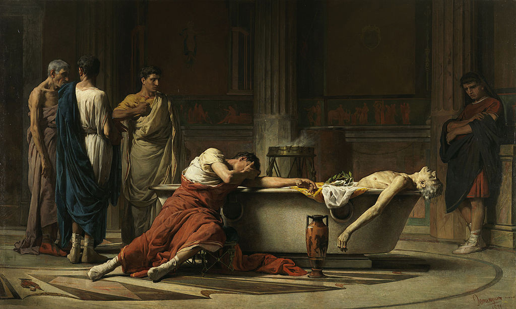 The Death of Seneca, Manuel Domínguez Sánchez. Wikimedia Commons/Public domain