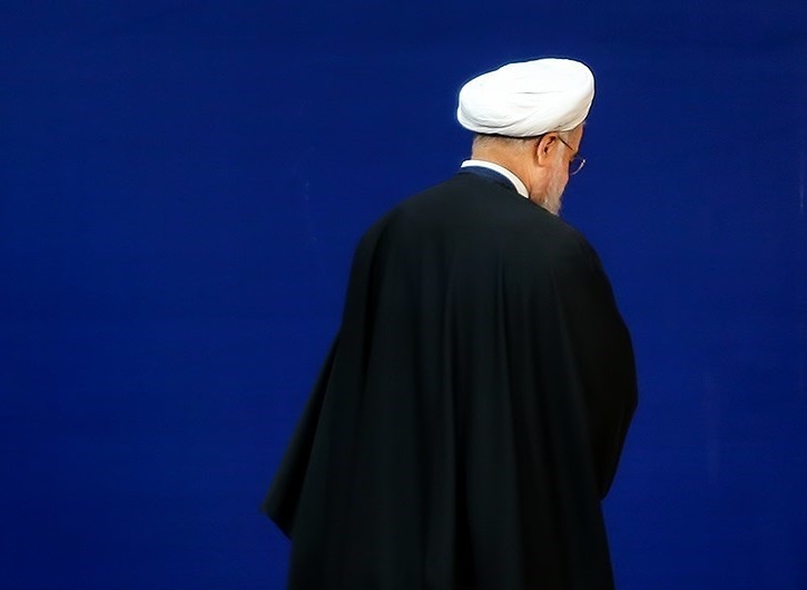 President Hassan Rouhani turns his back. Wikimedia Commons/Hamed Malekpour