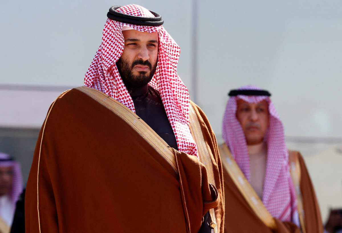 Saudi Deputy Crown Prince Mohammed bin Salman attends a graduation ceremony and air show marking the 50th anniversary of the founding of King Faisal Air College in Riyadh, Saudi Arabia, January 25, 2017. REUTERS/Faisal Al Nasser/File Photo