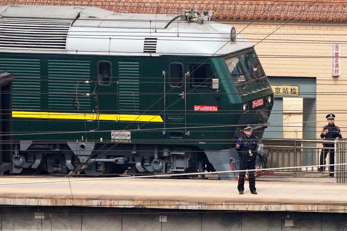 North Korean train reportedly left Beijing