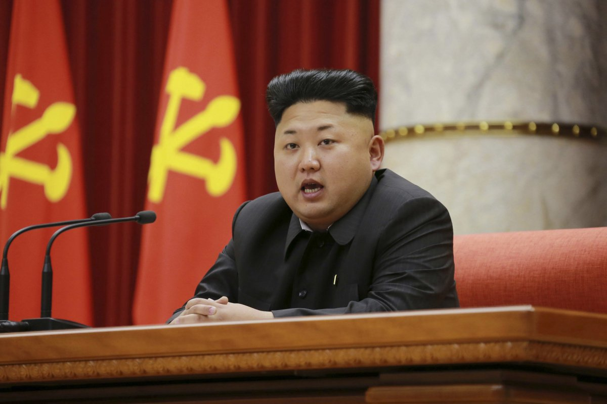 North Korean leader Kim Jong Un speaks during a ceremony to award party and state commendations to officials and logistics personnel in the fishery field of the Korean People's Army in this undated photo released by North Korea's Korean Central News Agency (KCNA) in Pyongyang December 28, 2014. REUTERS/KCNA