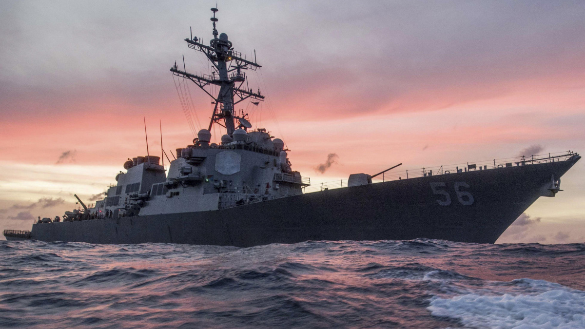 The U.S. Navy destroyer USS John S. McCain conducts a patrol in the South China Sea, January 22, 2017. U.S. Navy/Petty Officer 3rd Class James Vazquez/Handout via REUTERS/File Photo
