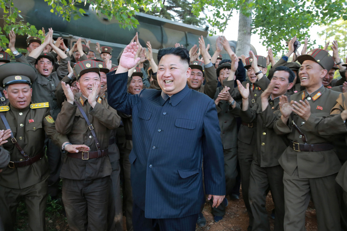 North Korean leader Kim Jong Un inspects the intermediate-range ballistic missile Pukguksong-2's launch test in this undated photo released by North Korea's Korean Central News Agency (KCNA) May 22, 2017. KCNA/via REUTERS