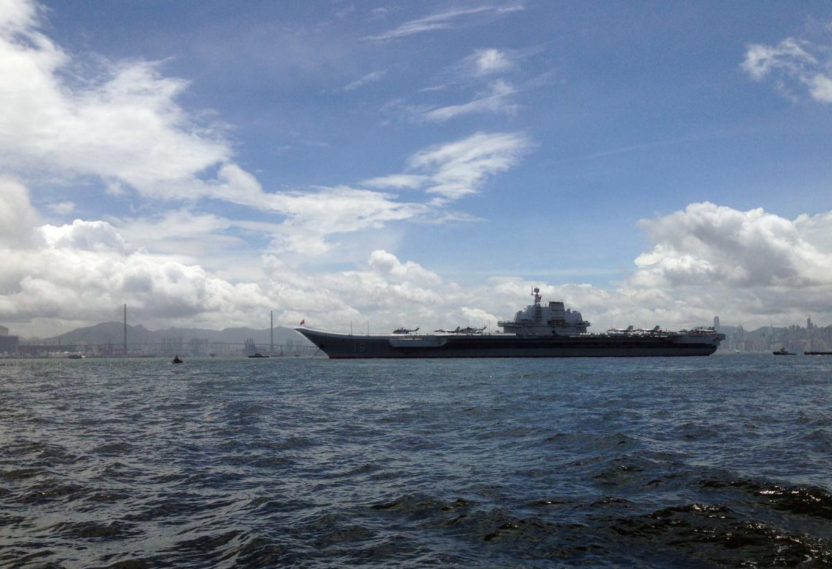 China's aircraft carrier Liaoning sails into Hong Kong, China July 7, 2017. REUTERS/Greg Torode