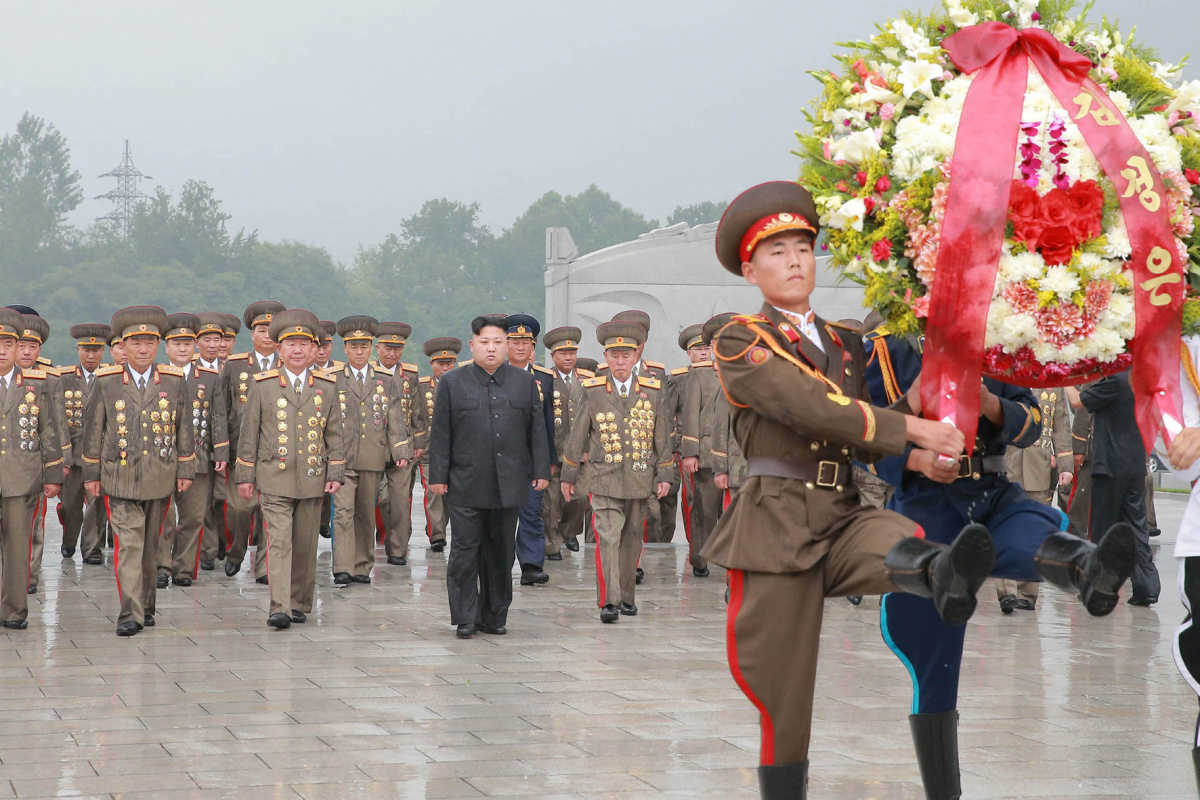 North Korean leader Kim Jong Un visits war graves to pay respects to war dead for the 64th anniversary of the armistice which ended the Korean War, in this undated photo released on July 28, 2017 by North Korea's Korean Central News Agency (KCNA) in Pyongyang. KCNA/via REUTERS