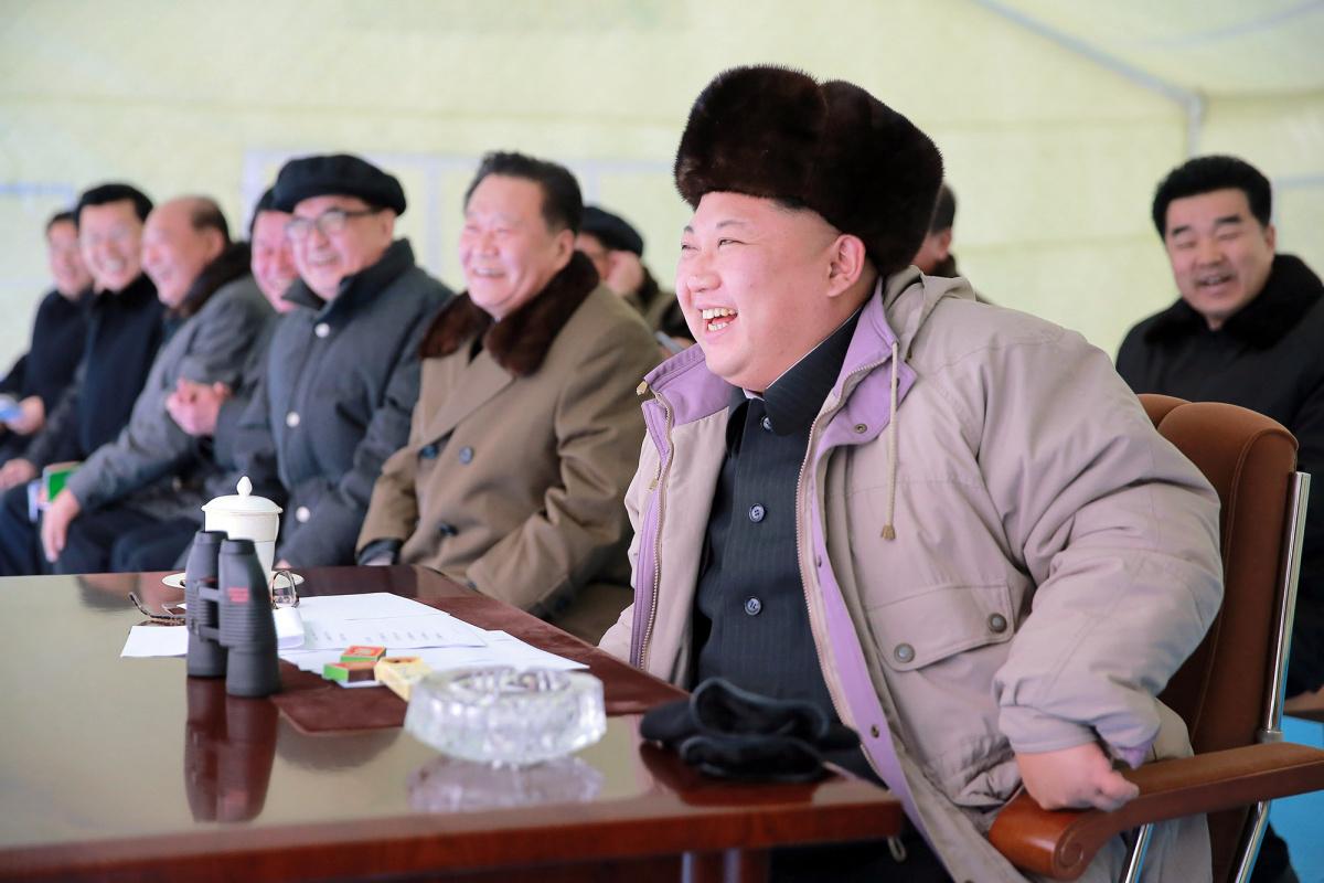 North Korean leader Kim Jong Un watches the Masikryong ski competition-2016