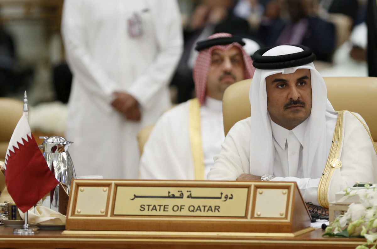 The Emir of Qatar, Tamim bin Hamad al-Thani, attends the final session of the South American-Arab Countries summit, in Riyadh November 11, 2015. REUTERS/Faisal Al Nasser/File Photo