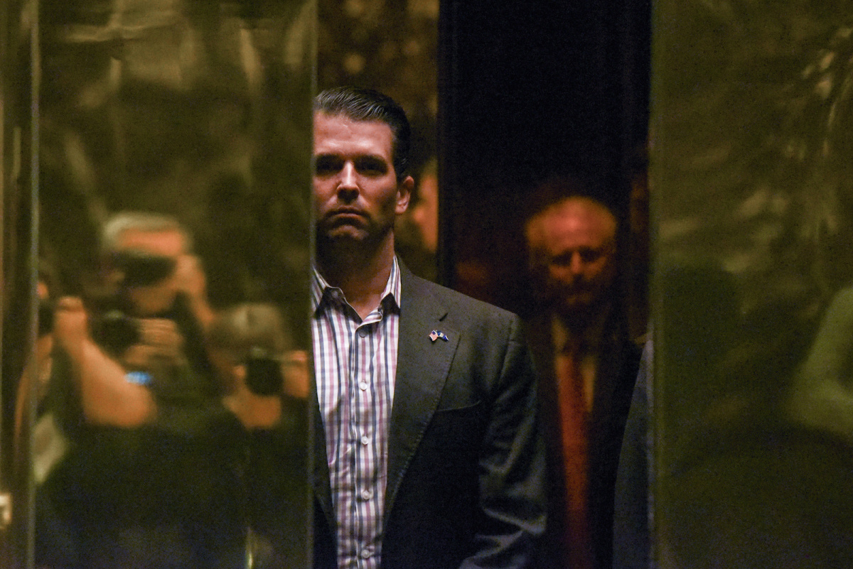 Donald Trump Jr. arrives at Trump Tower in New York City, January 18, 2017. REUTERS/Stephanie Keith/File Photo