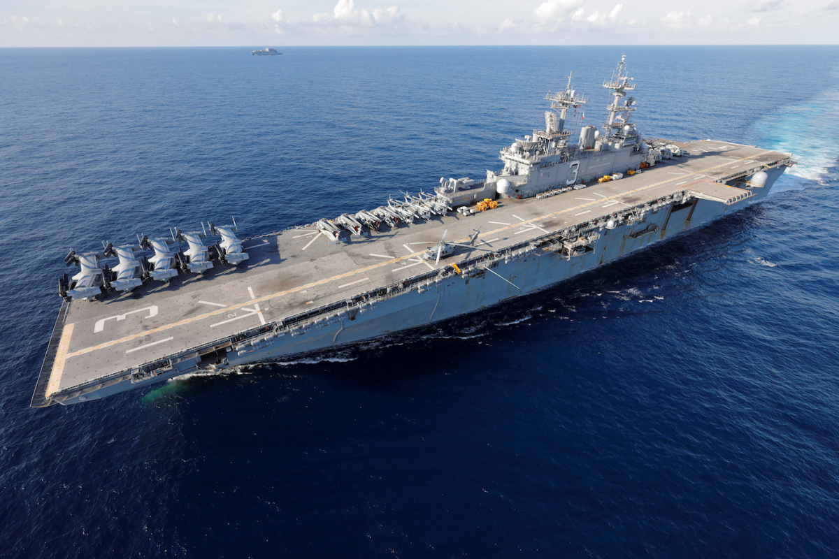 Image: The USS Kearsarge in the Caribbean Sea, September 19, 2017. Reuters/Jonathan Drake