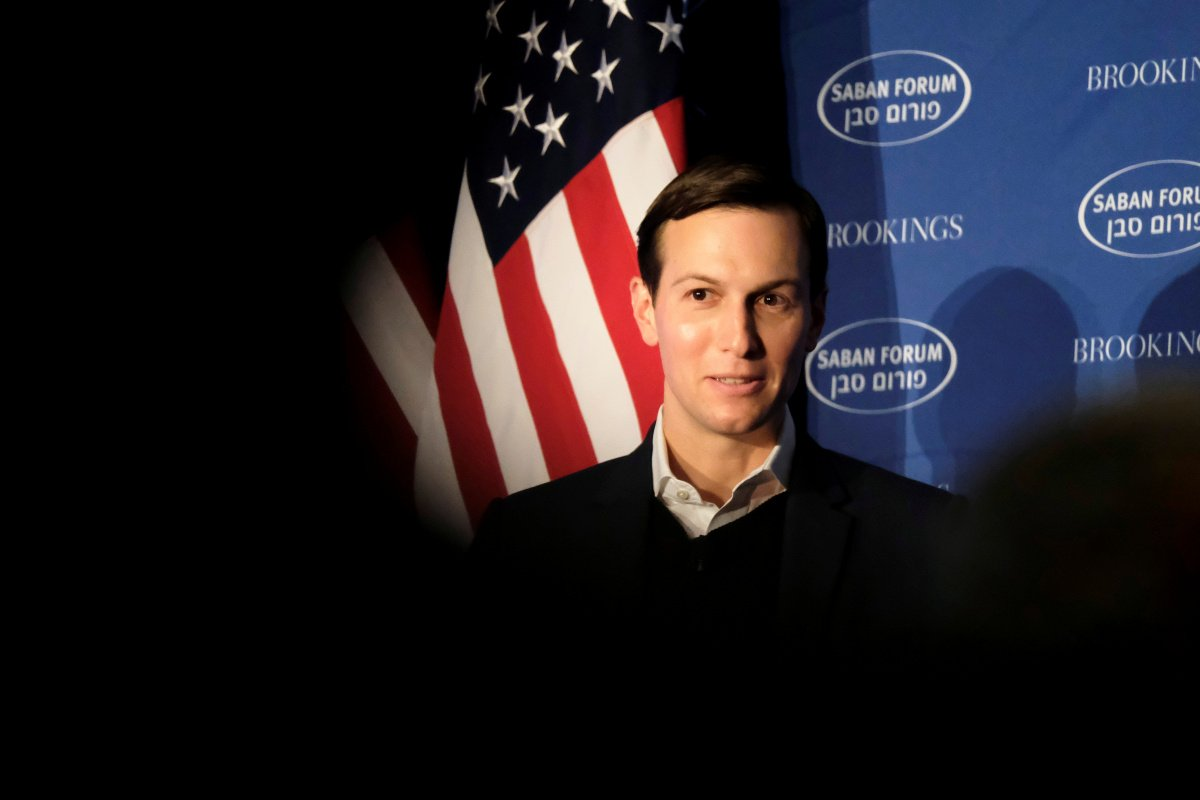 White House senior adviser Jared Kushner delivers remarks on the Trump administration's approach to the Middle East at the Saban Forum in Washington, December 3, 2017. Reuters/James Lawler Duggan