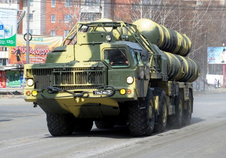 Image: An S-300P surface-to-air missile system on parade in Russia. Wikimedia Commons/Archlinux. CC BY-SA 3.0.