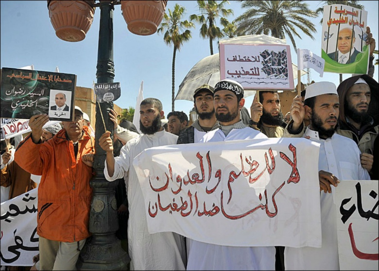 Image: A Salafist demonstration in Morocco. Flickr/Magharebia, CC BY 2.0.