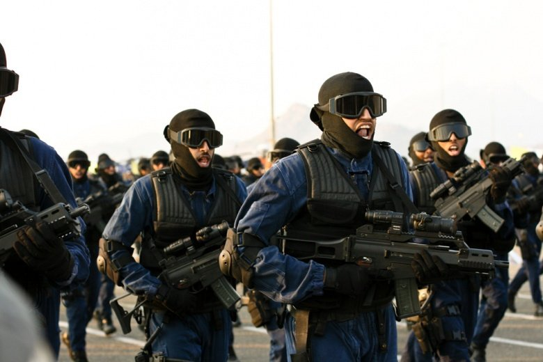 Saudi security forces on parade. Wikimedia Commons/Omar Chatriwala/Al Jazeera English