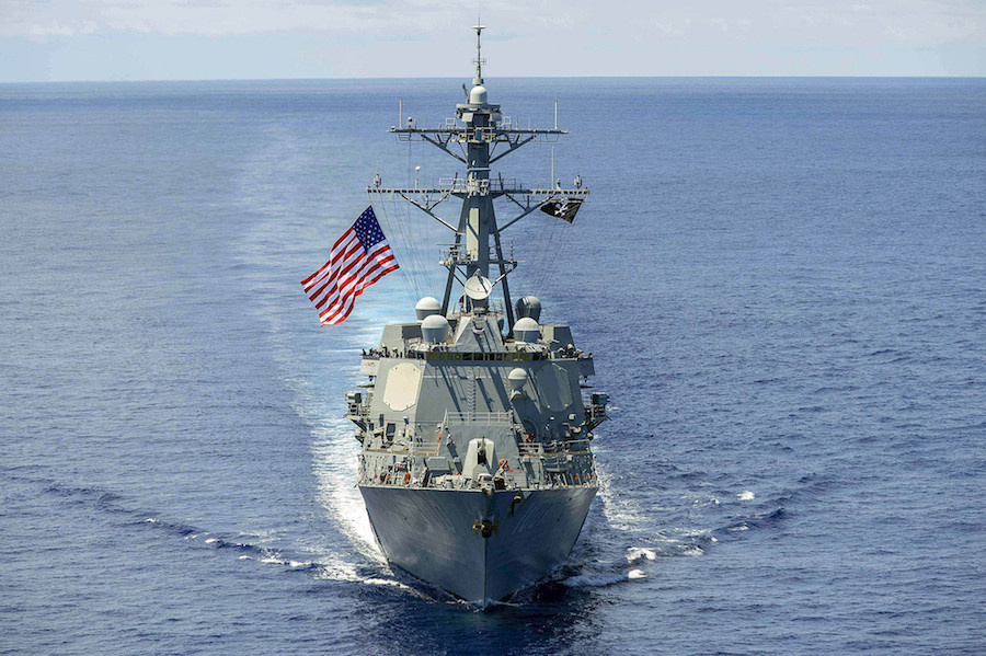 USS Kidd underway in the South China Sea. Flickr/U.S. Navy