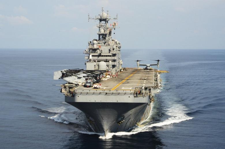 The amphibious assault ship USS Peleliu transits the South China Sea. Flickr/U.S. Pacific Fleet