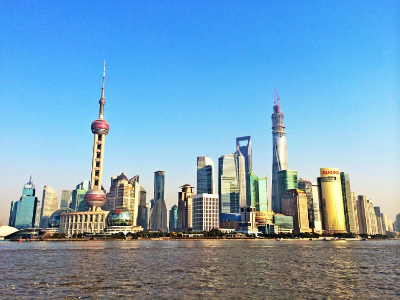 Shanghai's financial district. Wikimedia Commons/@Yhz1221
