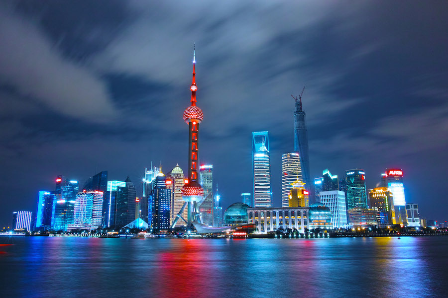 Shanghai skyline at night. GoodFreePhotos.com/Li Yang