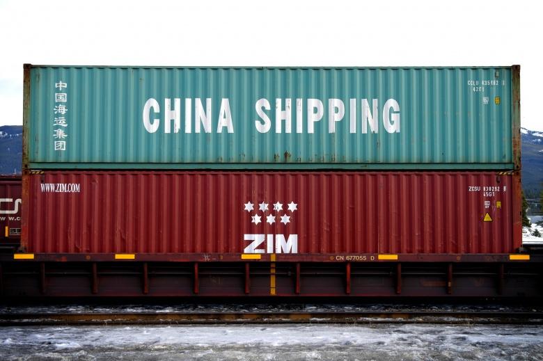 """China Shipping"" container in Jasper, Alberta, Canada. Flickr/Hugh Gallagher"
