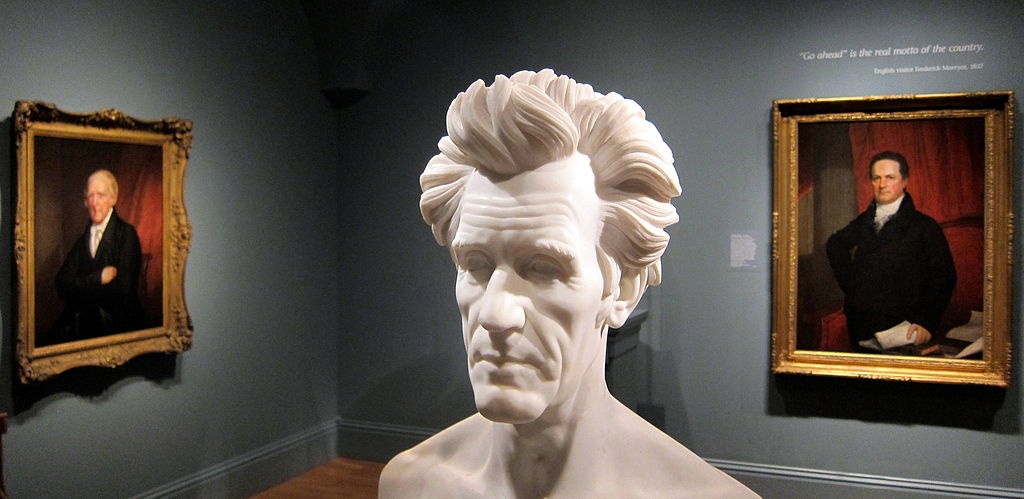 Bust of Andrew Jackson inside the National Portrait Gallery in Washington, DC. Wikimedia Commons/Creative Commons/@AgnosticPreachersKid