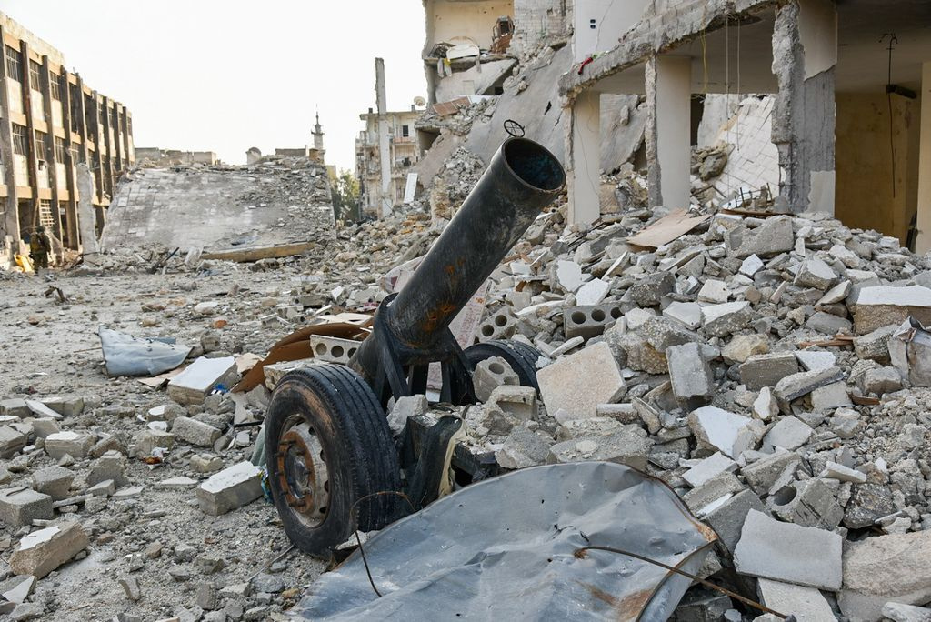 Improvised weapon in Aleppo, 2016. Wikimedia Commons/Mil.ru