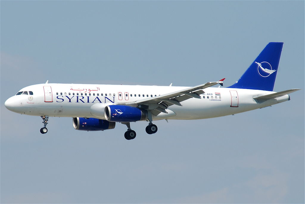 Syrian Air Airbus A320 at Frankfurt Airport. Wikimedia Commons/Creative Commons/Aero Icarus