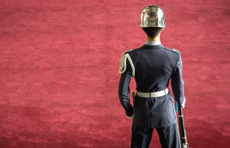 Taiwanese guard. Flickr/Tai Gray